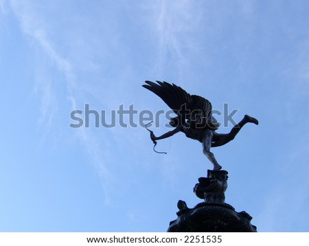 Eros in piccadilly circus,London