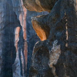 Erosion of limestone rocks in The Stone Forest located in Shilin Yi Autonomous County of Yunnan Province in China, Asia, UNESCO World Heritage Site