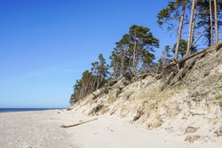 erosion of the Baltic Sea coast by strong winds