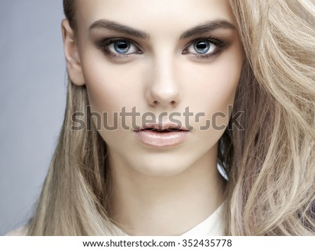Erotic portrait of young beautiful woman. Sexy blonde. - Shutterstock ID 352435778