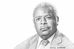Errol Barrow, Portrait from Barbados 50 Dollars Banknotes.