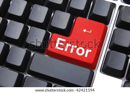 error button on computer keyboard showing internet concept