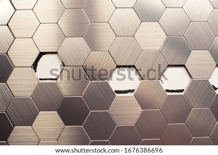 Error in the installation of tiles.