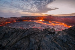 Ertale is the most active volcano of Ethiopia. This is one of the five famous volcanoes in the world that have a lava lake, as well as the only volcano in the world that has two lava lakes at once,