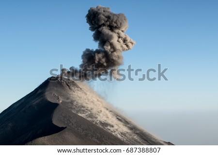 Shutterstock Erupting Volcano Fuego