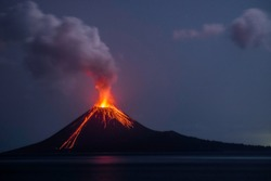 Eruption of Anak Krakatau