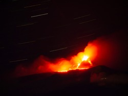 Eruption's photos of Etna. The volcano erupted the night of 13-14 December 2020