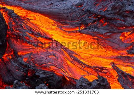 Eruption volcano Tolbachik