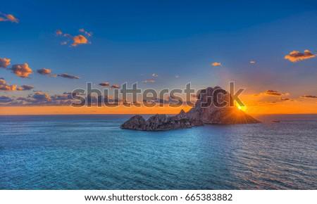 Es Vedra - Ibiza -Cala Dort Stok fotoğraf ©