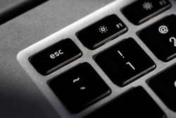 Esc button for generate escape character, stop sign on pc and laptop keyboard