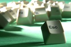 esc key escaping from crowd of keyboard keys