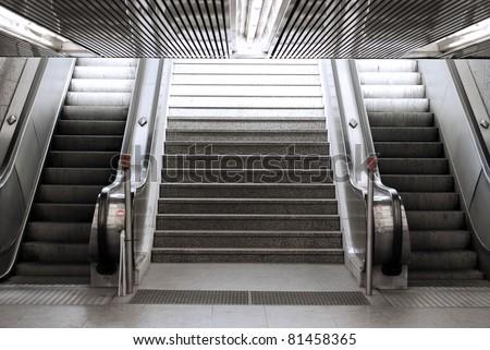 Stock Photo escalator