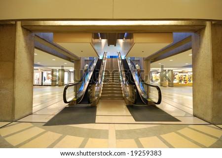 Escalator at a mall