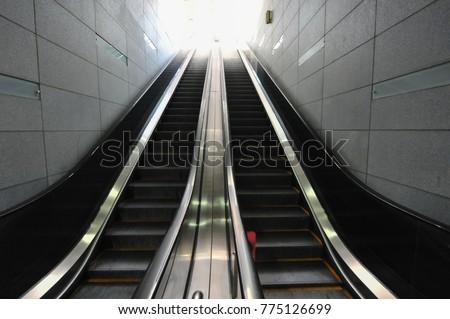 Escalator at the Seoul Metro subway station