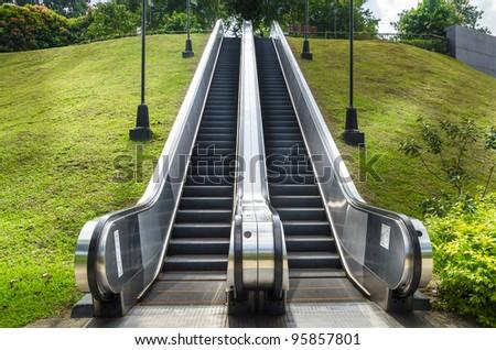 Escalator going to park