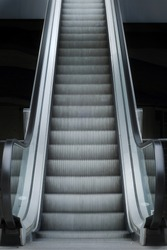 Escalator going up.