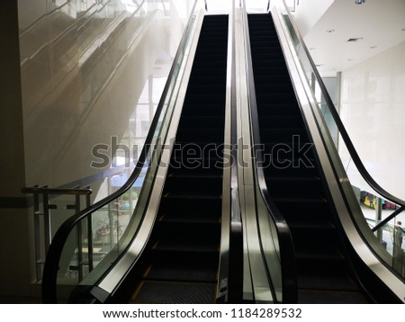 Escalator image Looking from the wash up #1184289532