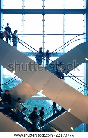 escalator  in office building #22193776