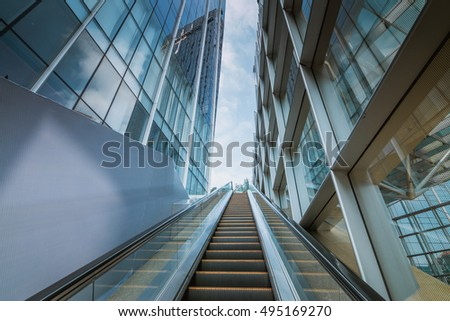 escalator in the outdoor, urban landscape,Guangzhou China #495169270