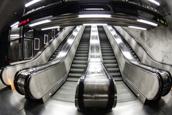 Escalators in Stockholm metro