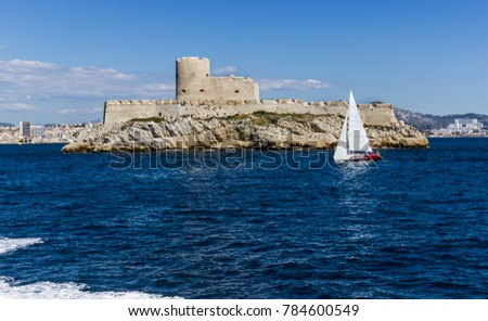 Escape From Chateau d'If: , Chateau 'If is located on the smallest island in the Frioul archipelago, in the Bay of Marseille. #784600549