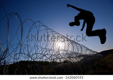 Escape from the danger zone to freedom and journey of Hope