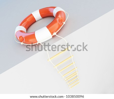 escape ladder life buoy