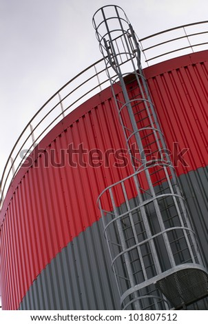 escape ladder on a oil storage tank