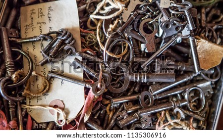 escape room keys Stock photo ©