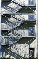 escape staircase made from metal