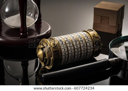 Escape the room or escape game, is a physical game where players are locked in a room and a required to examine clues and solve a puzzles. The word Xcape?� is the password for this cryptex riddle