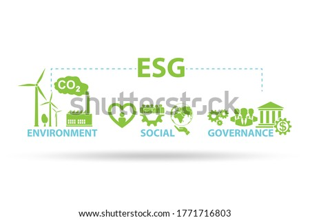 ESG concept as environmental and social governance Stock photo ©
