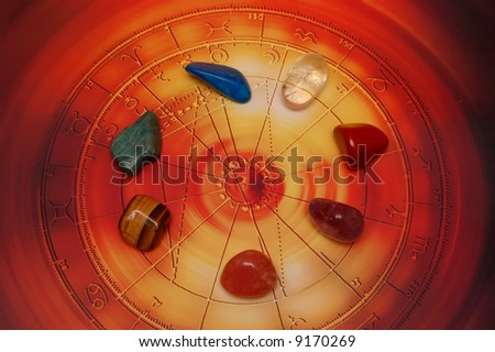 Free Photos Esoteric Stones On Blue Astrological Chart Avopix