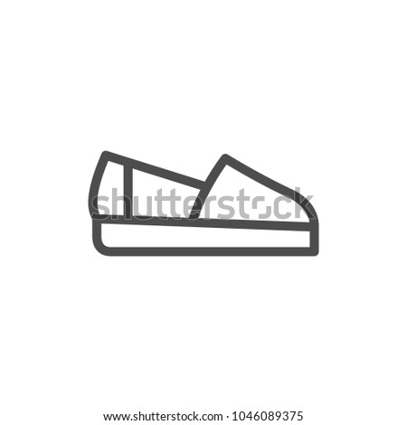 Espadrille line icon isolated on white