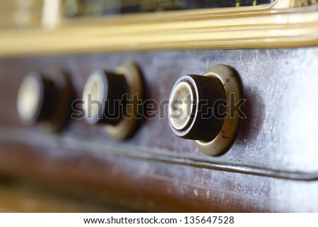 especially of old radio knobs
