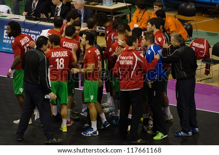 European Handball Championship qualifying match Portugal - Macedonia
