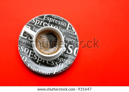 espresso coffee cup and two cookies