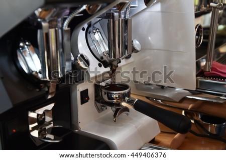 Espresso coffee maker - barista style  #449406376