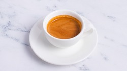 Espresso cup isolated on white.