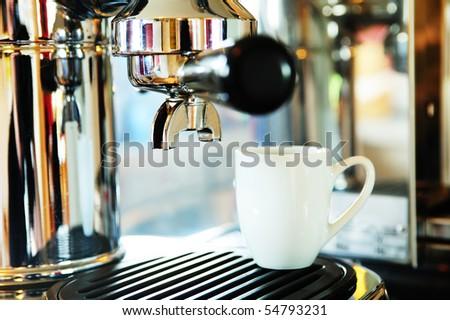 espresso-machine - stock photo