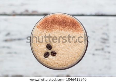 Espresso martini cocktail drink high end bar trendy coffee #1046413540