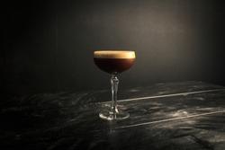 Espresso Martini in a Professional Photography Backdrop