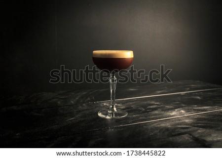 Espresso Martini in a Professional Photography Backdrop Stockfoto ©