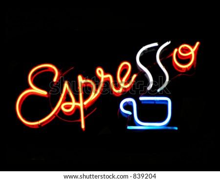 Espresso neon sign