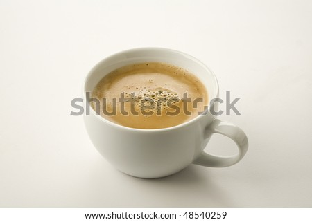 Espresso with crema isolated on  white