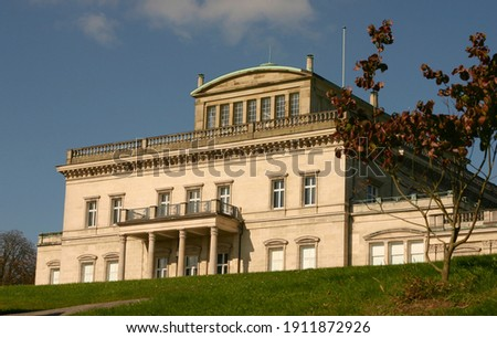 Essen - View to Villa Huegel in the afternoon, North Rhine Westphalia, Germany Stock foto ©