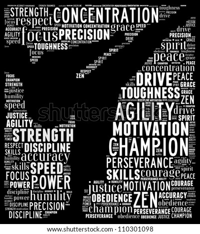 Essence of martial arts: text graphics