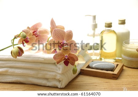 Essential body massage oils in bottles for relaxation and body treatment