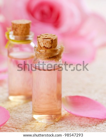 Essential Oil for Aromatherapy . Rose Spa