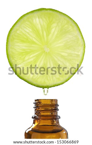 essential oil of lemon-Drop of oil falls